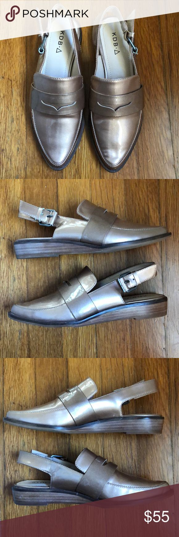 Kelsi Dagger Loafer Rose Gold Metallic Shoes 6 Like new! Little to no wear on soles as you can see in the pictures. Very well made and cute but I don't think I can pull off the metallic shoe. Sold out in Nordstrom Rack!   -Size 6 Kelsi Dagger Shoes Flats & Loafers