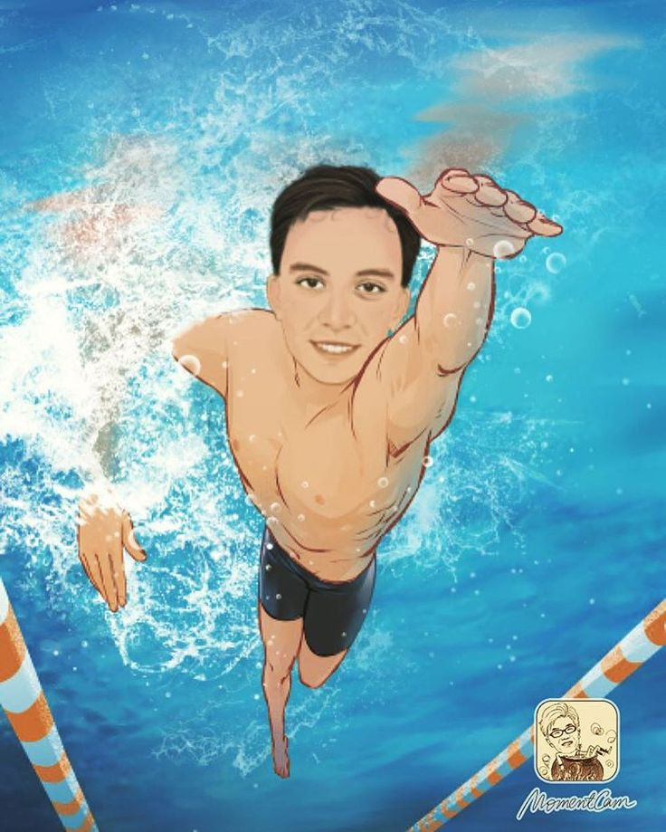 🏊🏻Getting ready for the Olympics next month🏆! Gotta train hard cuz I'm aiming for the gold 🏅#swim #swimmer #olympics #olympics2016 #champion #medal #gold #goldmedal #sport #sports #momentcam #caricature #cartoon