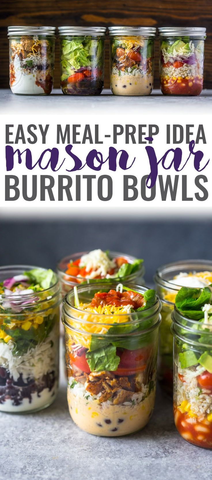Shake up your lunch time routine with these healthy mason jar burrito bowls. They are packed with protein, whole grains and nutritional veggies that will help keep you full for hours. They are also…