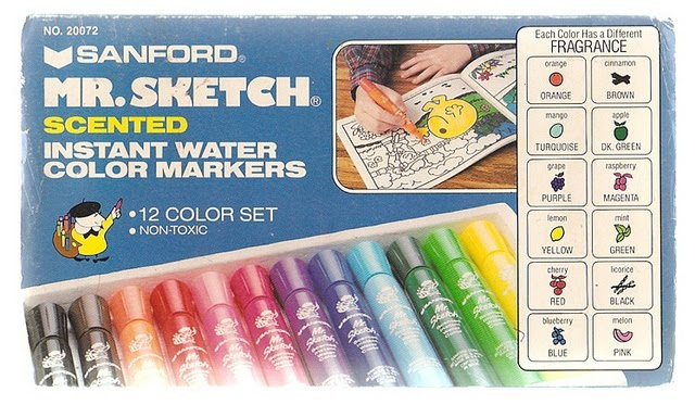 If I could find these I would buy them right now.Back To Schools, Childhood Memories, Blue, Colors, Boxes, Scented Markers, Art Kids, Sketches, Black