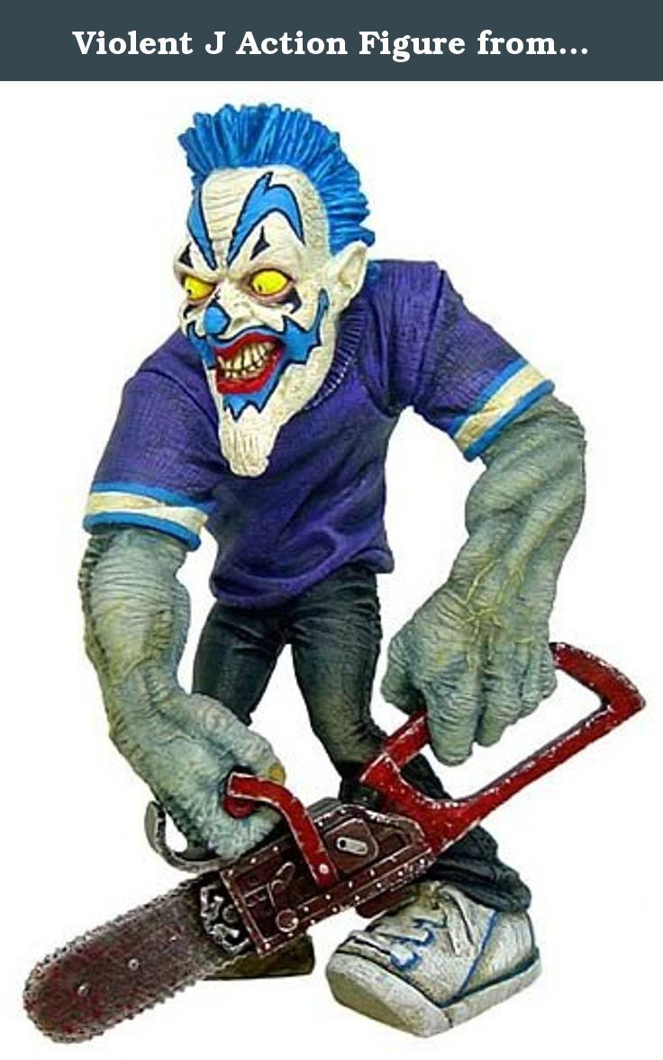 Violent J Action Figure from Insane Clown Posse. Violent Jay Figure with Chainsaw.