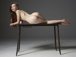 Emily Bloom Hot Pussy on the Table - pics 07