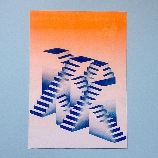 A Riso print for @printedgoods #risograph #printspotters #graphicdesign #illustration