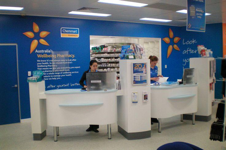 Pharmacy Design Australia - Chemmart branded Pharmacy dispensary uses their modulated forward dispensing units to bring the pharmacist to the customer