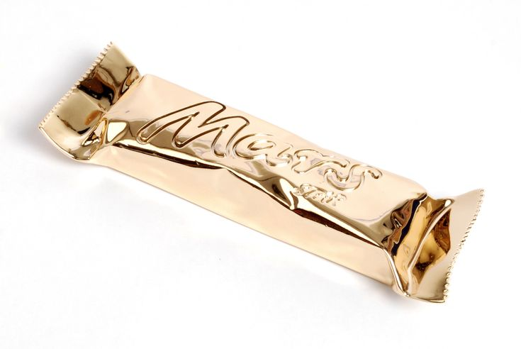 Golden mars bar, a different take on the iconic mars wrapper, it is more of a novelty design than a new product