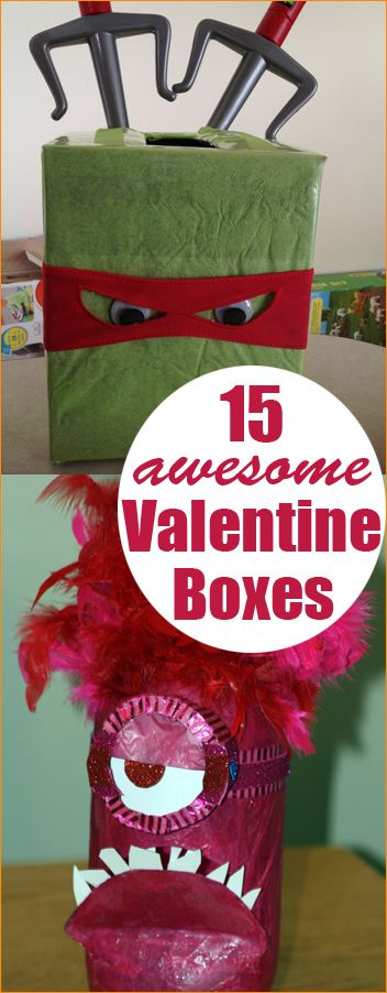 Creative Valentine Boxes. Fun ideas for holding the kids Valentines. Great ideas for both boys and girls.