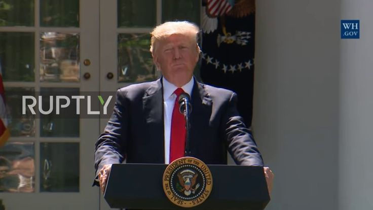 Shocking News! President Donald Trump withdrew the US from Paris climate agreement!  Reblogged from Ruptly TV on YouTube - link https://www.youtube.com/watch?v=K9HOXbgGQIA The rights for this video belong to Ruptly TV