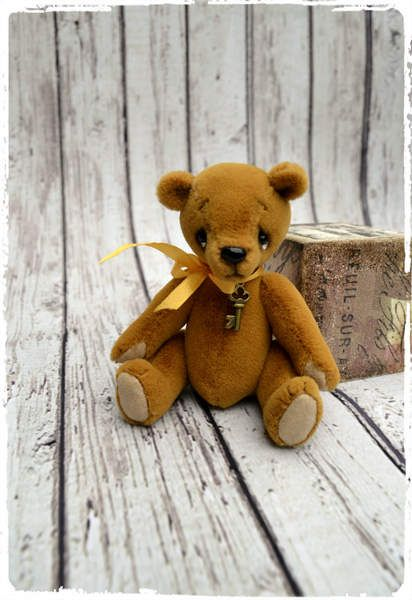 Artist Teddy Bear miniature by By Krishchenko Nadya | Bear Pile