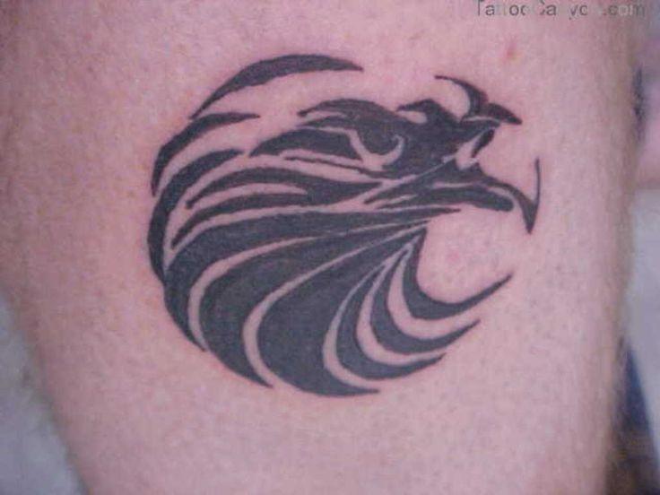 Eagle Head Tattoo Drawing Tribal eagle head tattoo