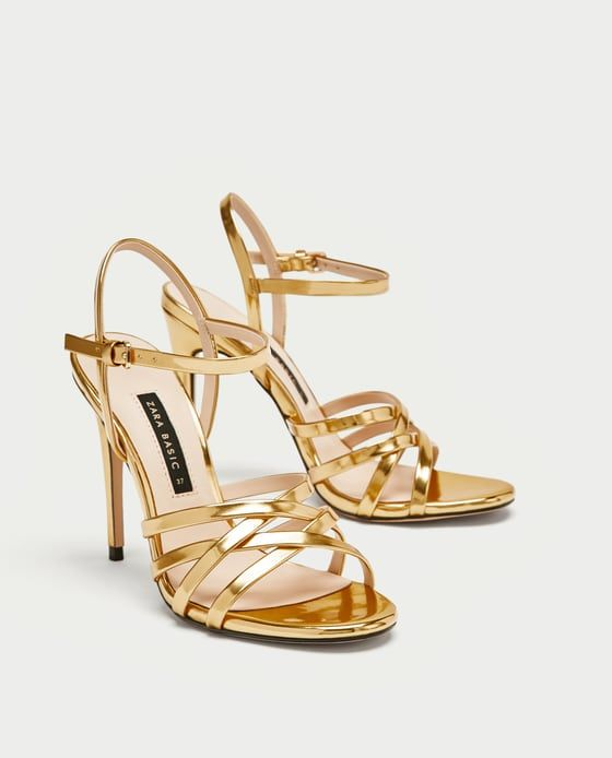 107481bf815ec ZARA - WOMAN - LAMINATED STRAPPY SANDALS