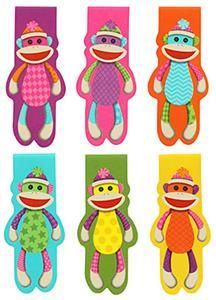 Colorful Sock Monkey Magnetic Bookmarks | Mardel Education - Okay, so this has nothing to do with holistic homeschooling . . . but who doesn't like sock monkeys?