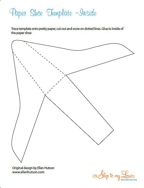 Paper high heeled shoe template inside paper shoes for How to make paper shoes templates