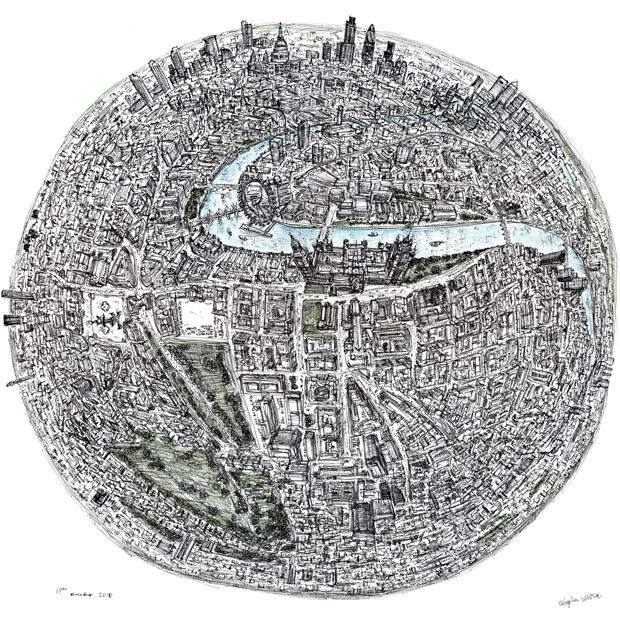 Done by MEMORY! Acclaimed autistic artist Stephen Wiltshire's incredibly detailed aerial drawings of London and New York