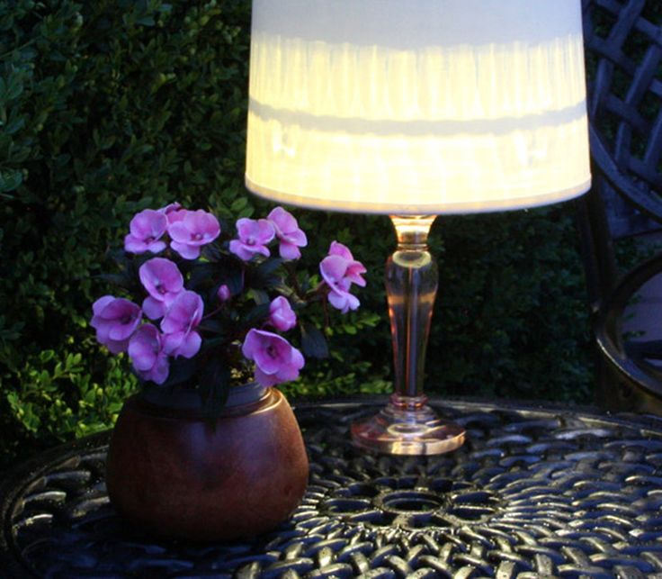 Light Up Your Night With an Easy Outdoor Table Lamp Hit up Goodwill and the hardware store to make this lamp for a deck or poolside patio in minutes