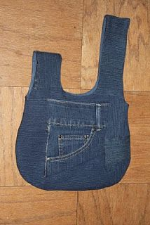 @: Japanese knot bag out of blue jeans