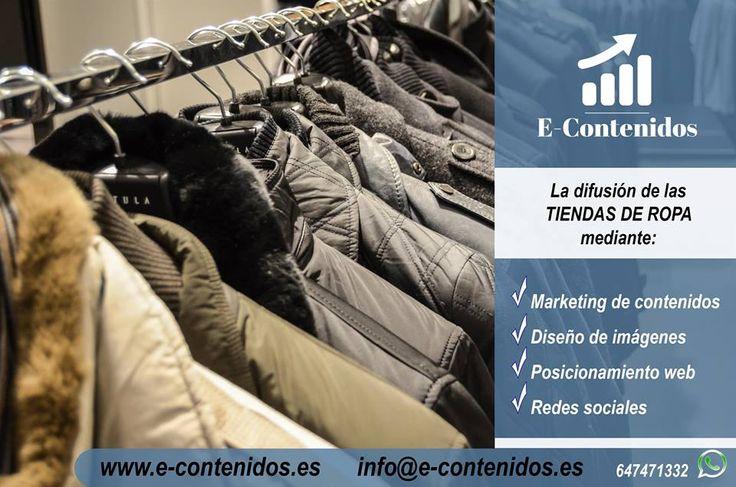 📢📣 ¿Necesitas difundir tu #tienda de #ropa? Somos especialistas en #marketing de #contenidos, #redessociales y #posicionamiento‼