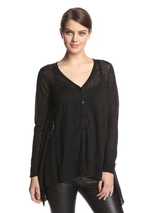 65% OFF Acrobat Women's Straw Cardigan (Black)