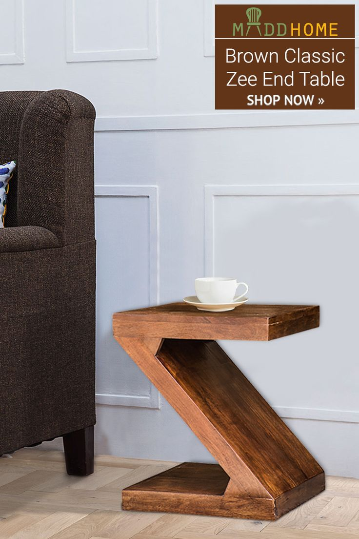 Brown Classic Zee End Table