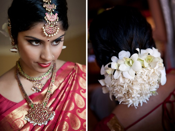 Wedding hair and jewelry