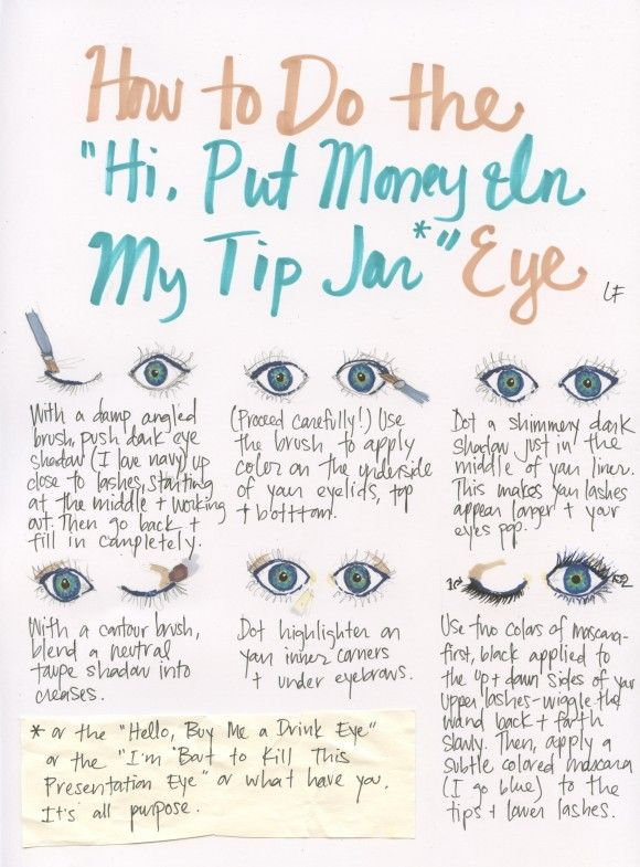 """How To Do The """"Hi, Put Money In My Tip Jar"""" Eye"""