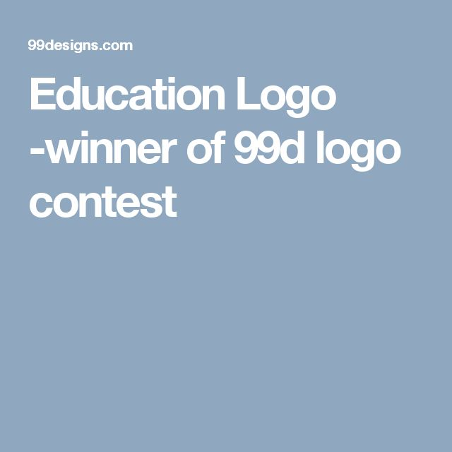 Education Logo -winner of 99d logo contest