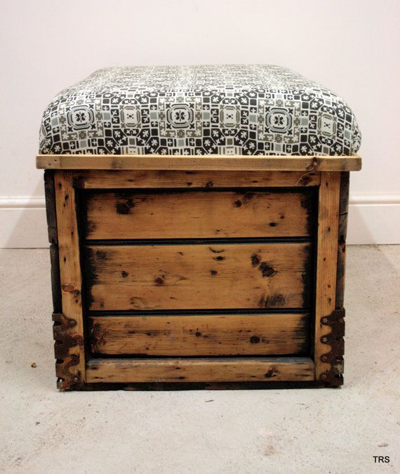 Antique Pine Chest Chair with Scandinavian by TheRetroStationUK