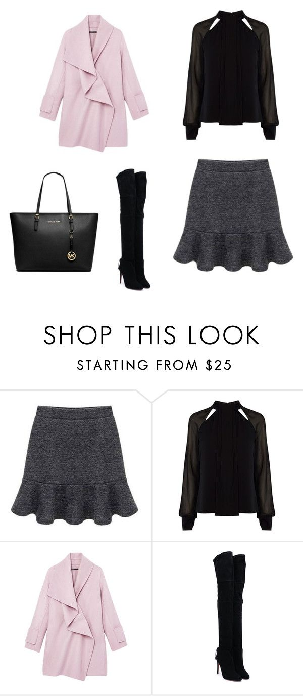 """""""Untitled #17"""" by mariachun on Polyvore featuring Karen Millen, Vince, Aquazzura and MICHAEL Michael Kors"""
