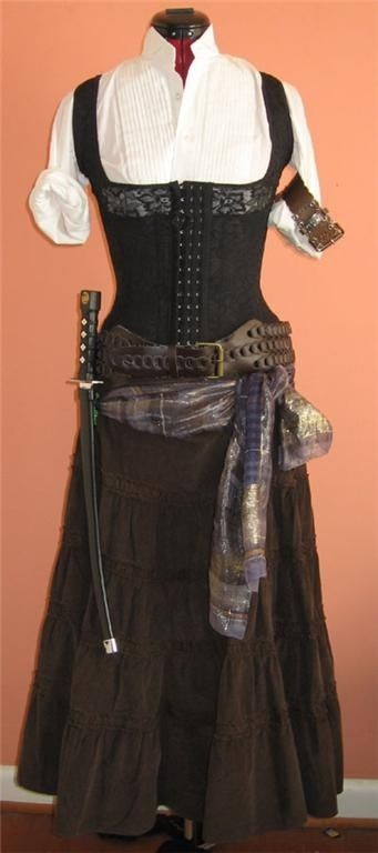 Female pirate - nice concept for Hook costume - Halloween 2014