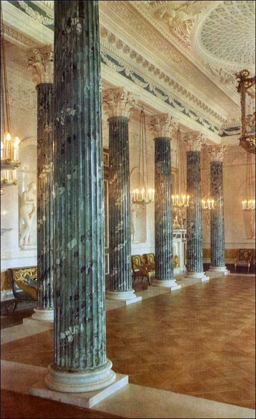 Grecian Hall at Pavlovsk. Pavlovsk Palace & Park - Country Residence of the Russian Imperial Family