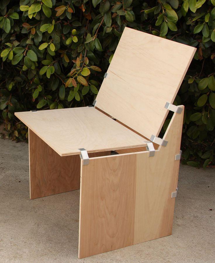 Hardwood Plywood Furniture ~ Ply micah black an aluminium connector that
