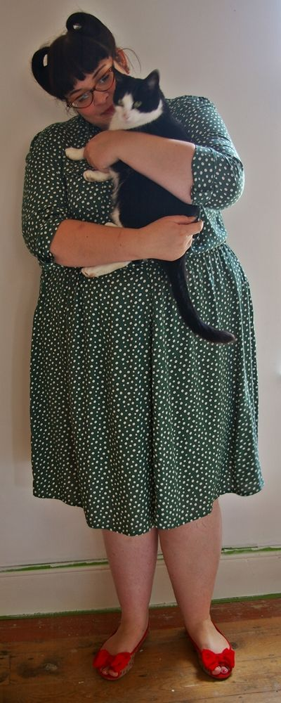 Frivolous Mrs D: Granny Dress, Kitty & Lucite