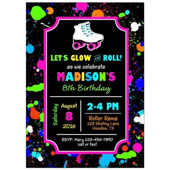 76 best Skating Party Ideas images – Roller Skating Party Invitation Wording