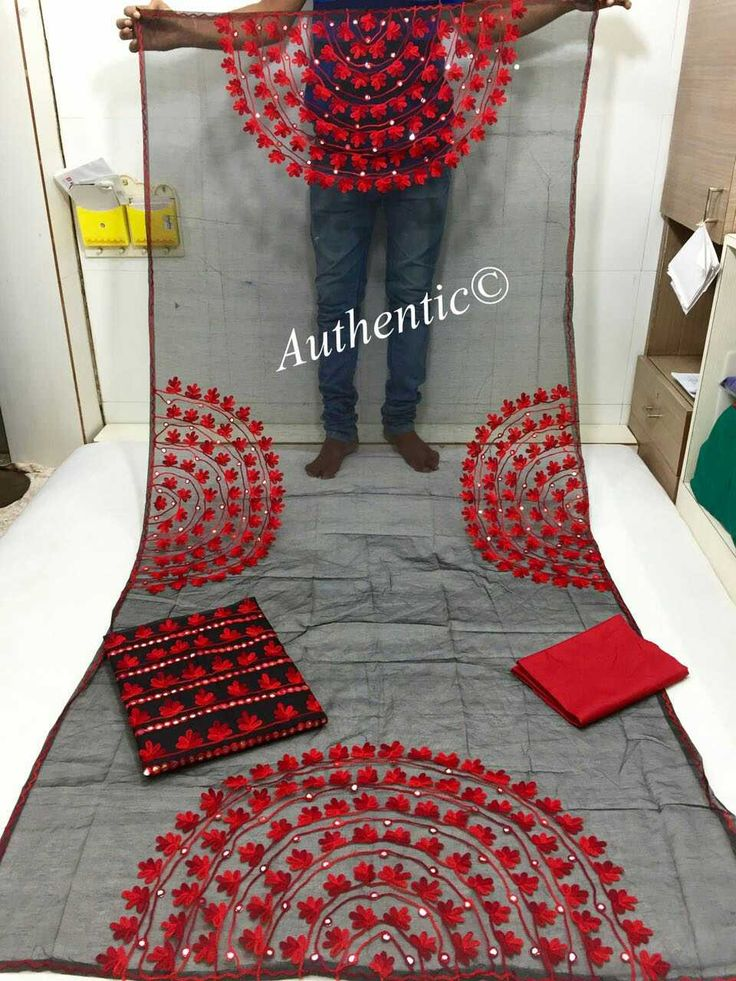 Kota top and Dupatta foil mirror  work (2.5 mts each approx ) aaree work  Semi cotton salwar