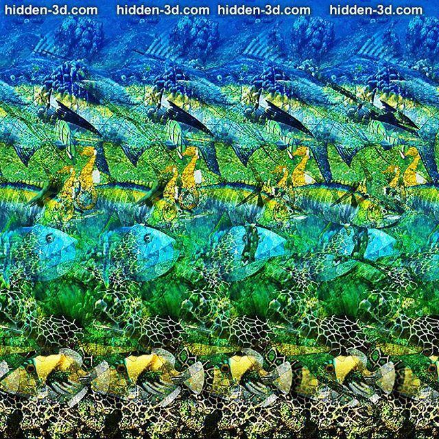 Ocean. #stereogram #hidden3d #stereoscopic #autostereogram