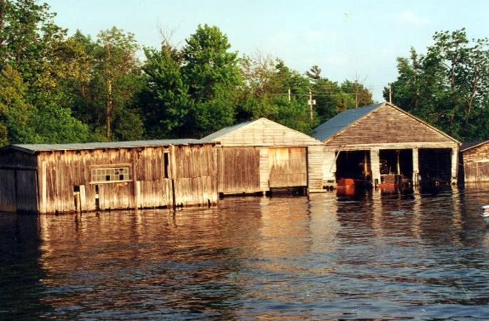 Bobcaygeon Boathouses, ON