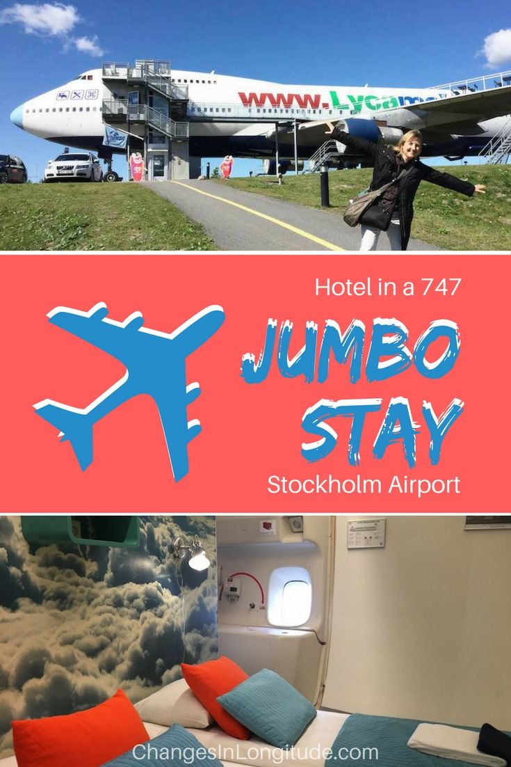 It's a bird . . . it's a plane . . . it's . . . a HOTEL??? Check out Jumbo Stay--a 747-turned-hotel at Stockholm's Arlanda Airport! |Where to stay in Stockholm|Arlanda Airport hotel|Jumbo Stay Arlanda