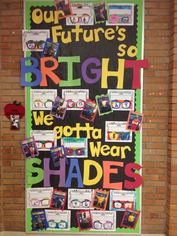 Third Grade Classroom Design Ideas ~ Our future s so bright we gotta wear shades bulletin
