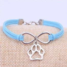 Dog Lovers Paw Charms Bracelet