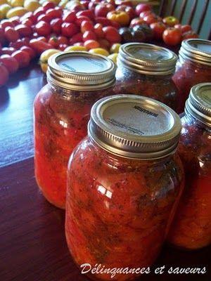 Recettes de conserves-maison: Les tomates en dés en pots Mason