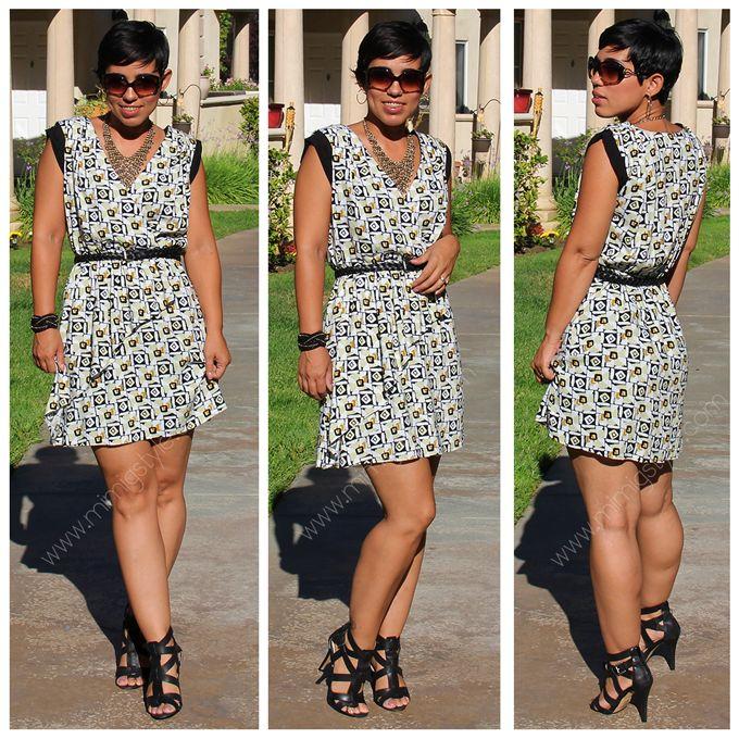 mimi g.: DIY Wearable Muslin Dress + Pattern Review V1344