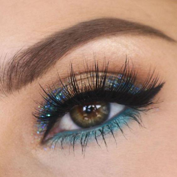Long lashes, beautiful brows