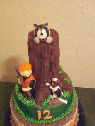 coon hunting birthday cake