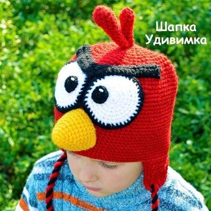 """Шапки и шарфы ручной работы. Ярмарка Мастеров - ручная работа. Купить Прикольная детская шапочка """"Angry Birds"""". Handmade."""