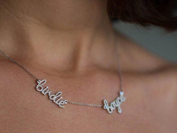 cc799ecc558cc Name Necklace, Name Necklace Gold, Customize Name Necklace ...