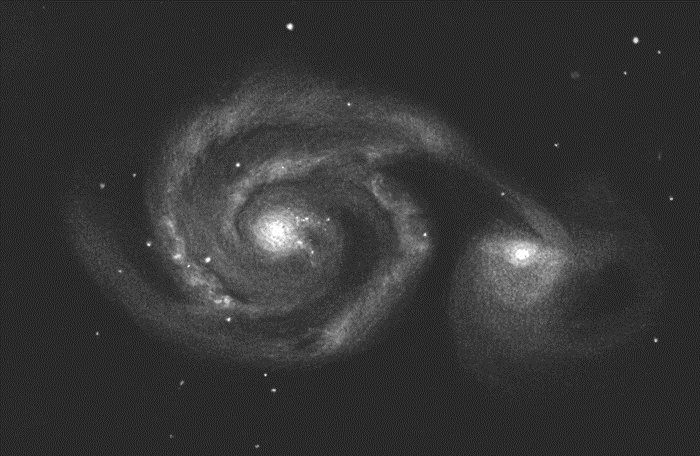 The Whirlpool Galaxy (M51) inverted – Astronomy Magazine – Interactive Star Char…