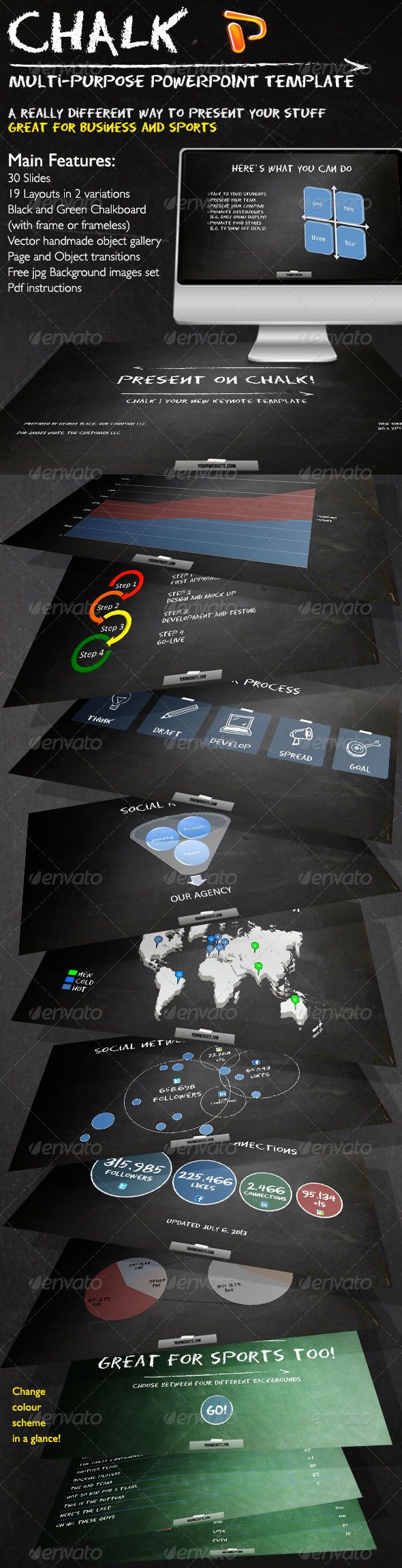 Chalk - Business and Sports Powerpoint Template