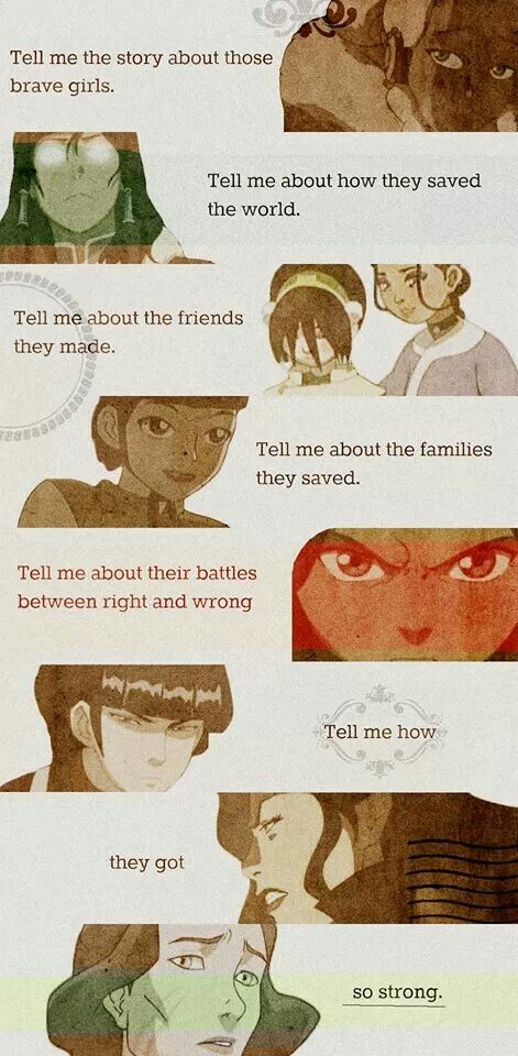 They forgot Ty Lee, June, Azula, and Smellerbee.