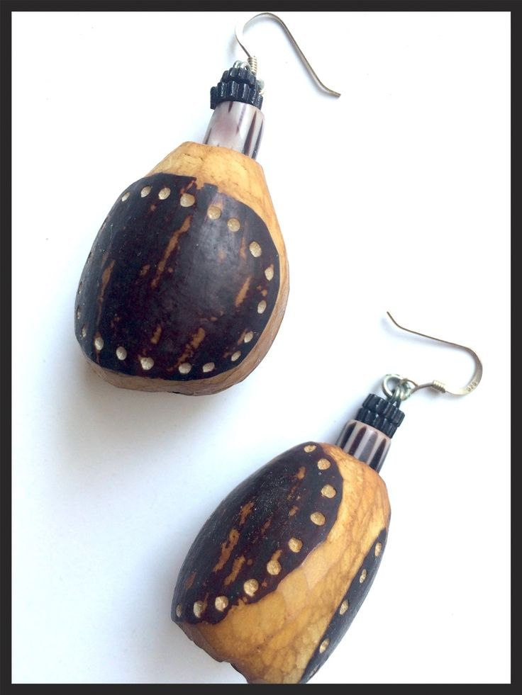 Vintage Tribal gourd Earrings