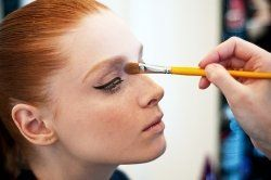 Makeup for Redheads - tips and tricks -- what a great article. It doesn't talk about mascara though. Try to stay away from blacks/dark browns, because those will be too harsh for your skin tone. Try to find lighter browns for mascara/eyeliner.