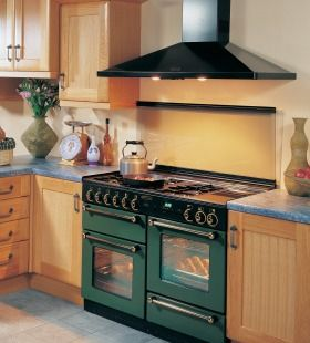 green rangemaster oven in kitchen - Google Search